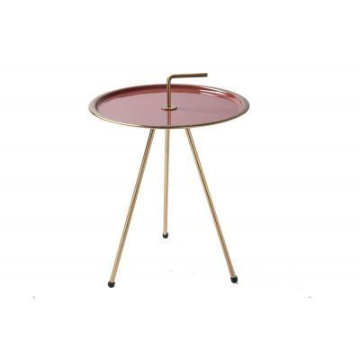 Háromlábú asztalka 42 cm, korall-arany - CIBLE